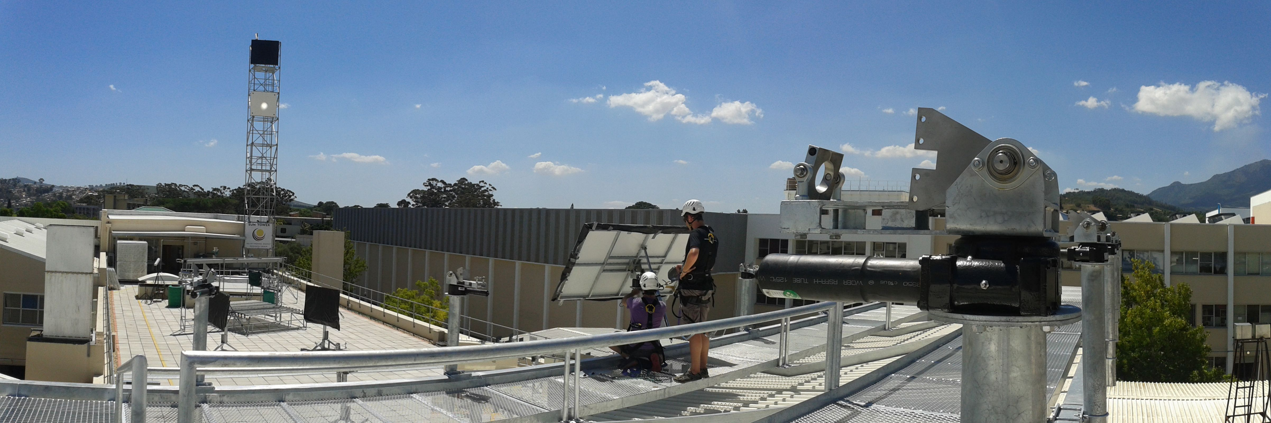 Erection of the SASOL Helio40 heliostats at the STERG facilities