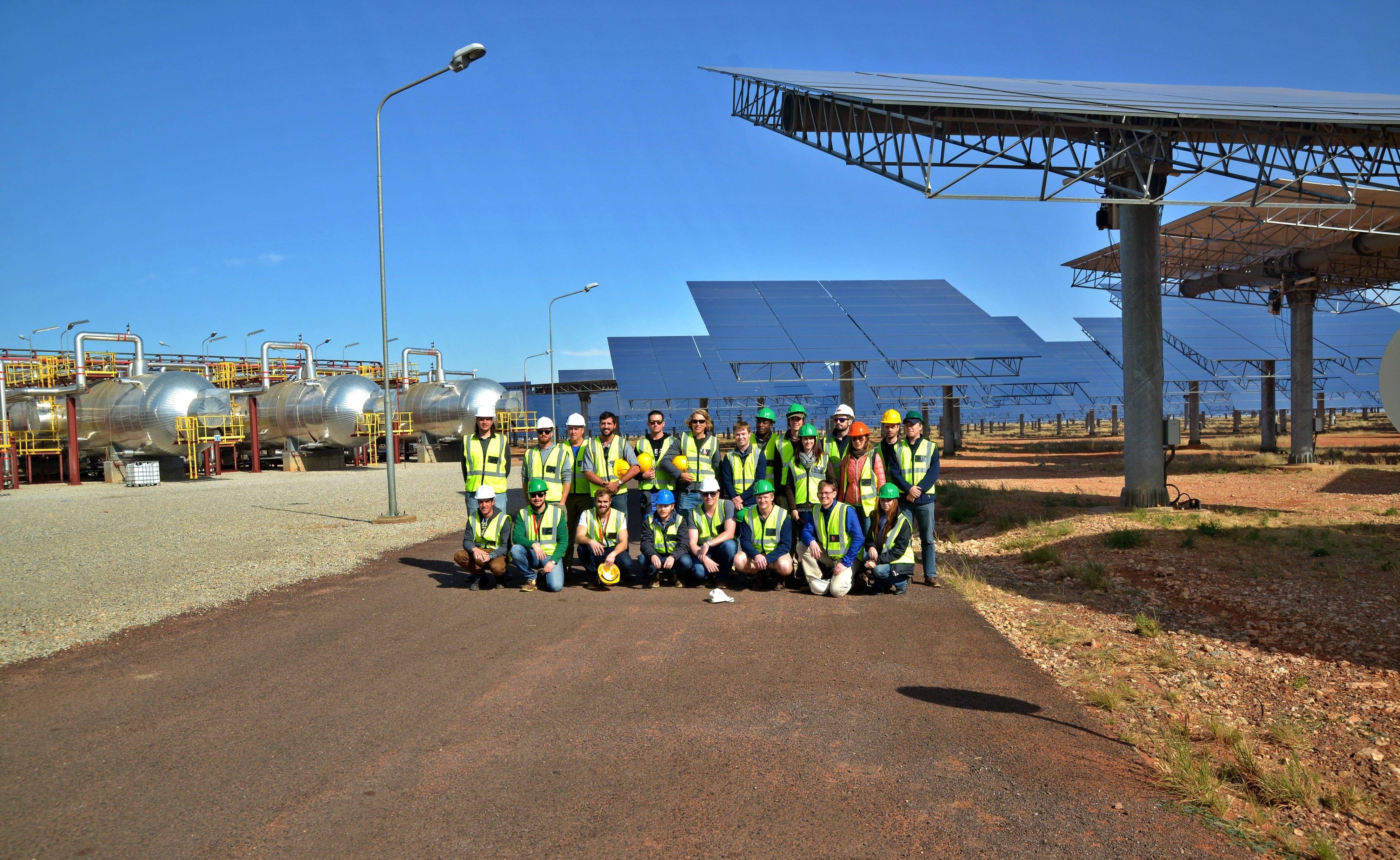 The technical tour team at the Khi Solar Plant. Photo courtesy of Frank Duvenhage